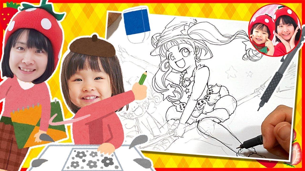 映画公開記念❤ハロウィンバージョンのキュアスターかいてみた❤ スター☆トゥインクルプリキュア お絵かき イラスト 3歳